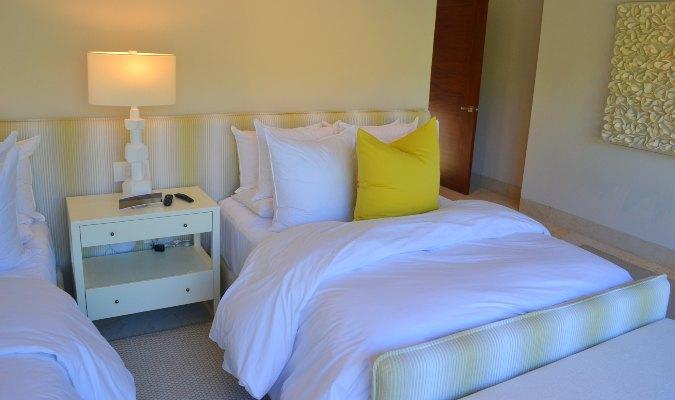 Bedroom of casa del muelle in Punta Mita