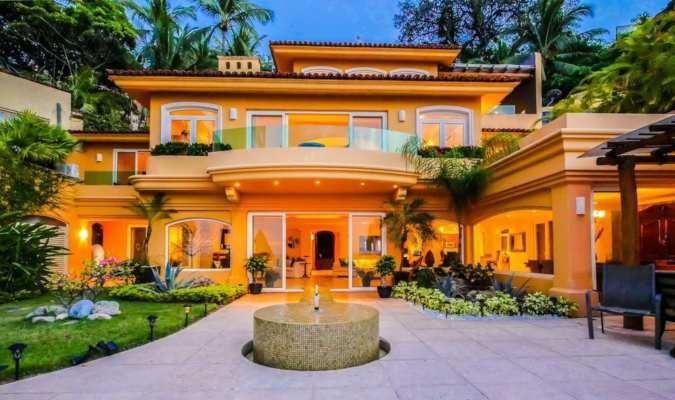 One of the luxury villas in Puerto Vallarta