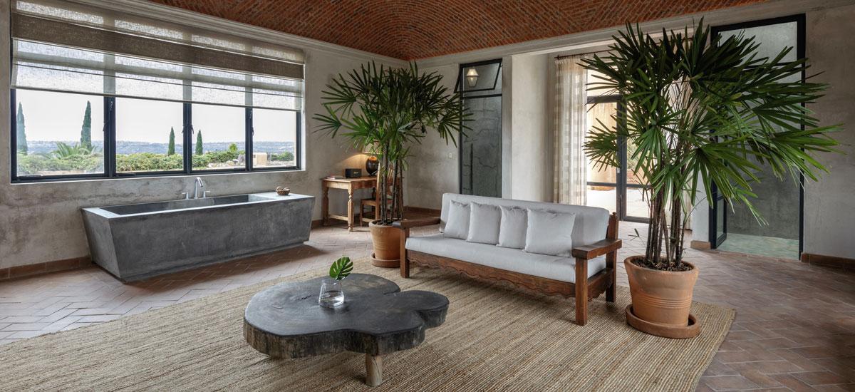 casa adela living room