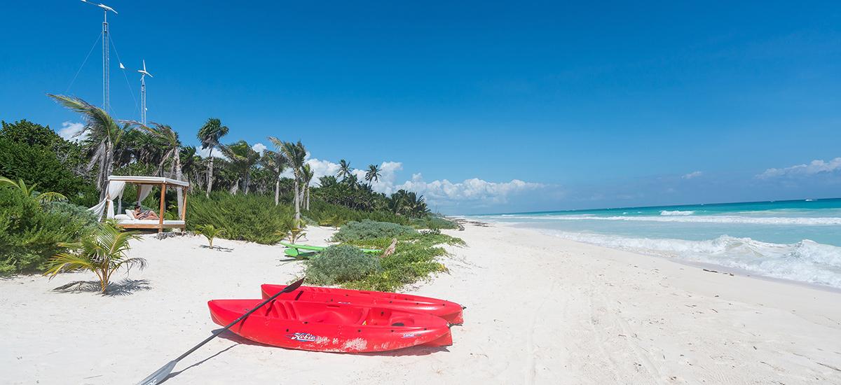casa cantarena kayak beach