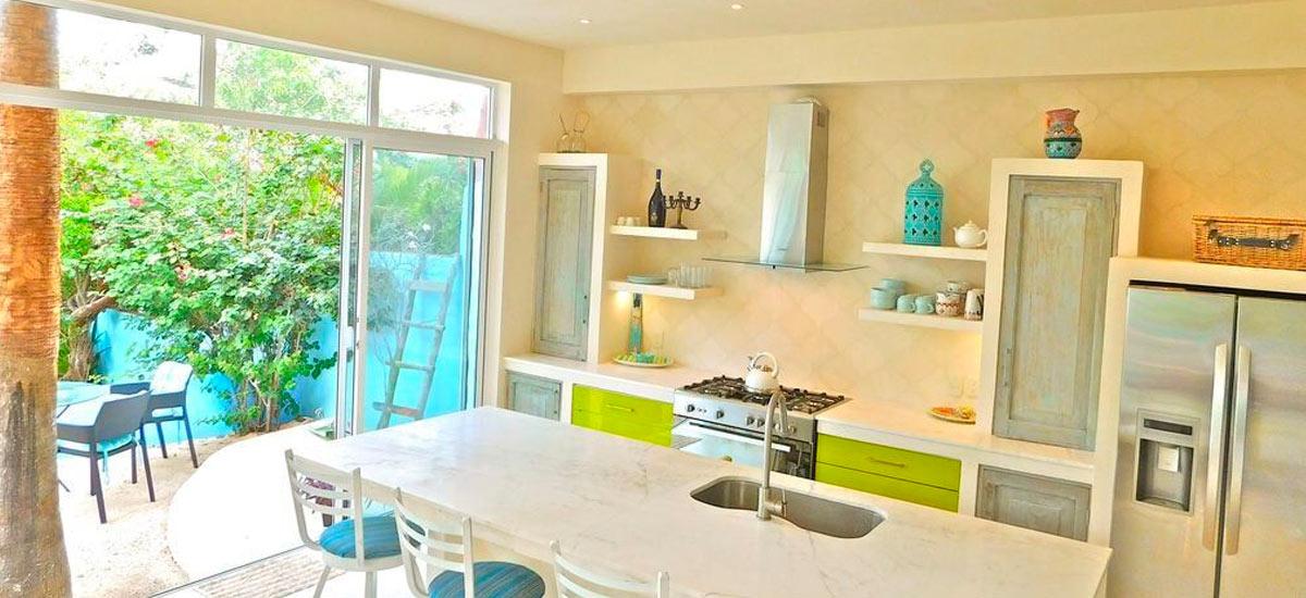 casa del cielo isla mujeres kitchen
