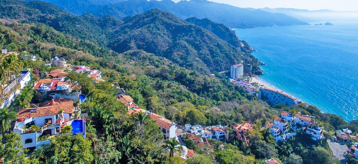 casa del quetzal aerial view