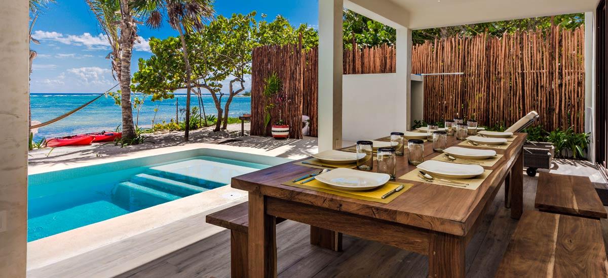 casa kevali outdoor dining