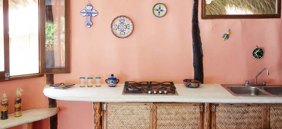 casa madera kitchen