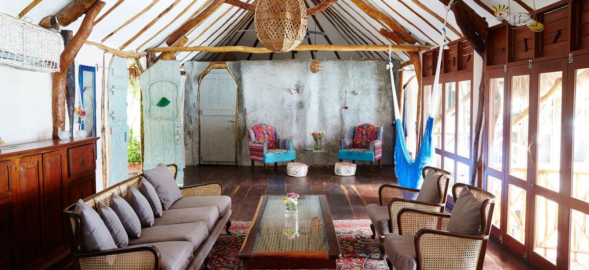 casa madera living room 2