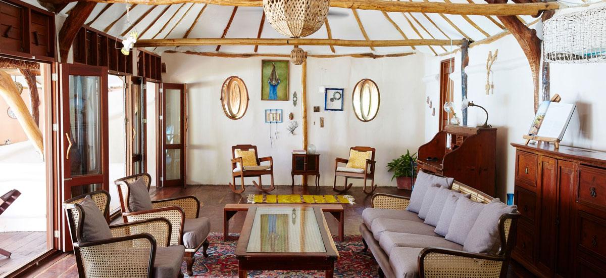 casa madera living room