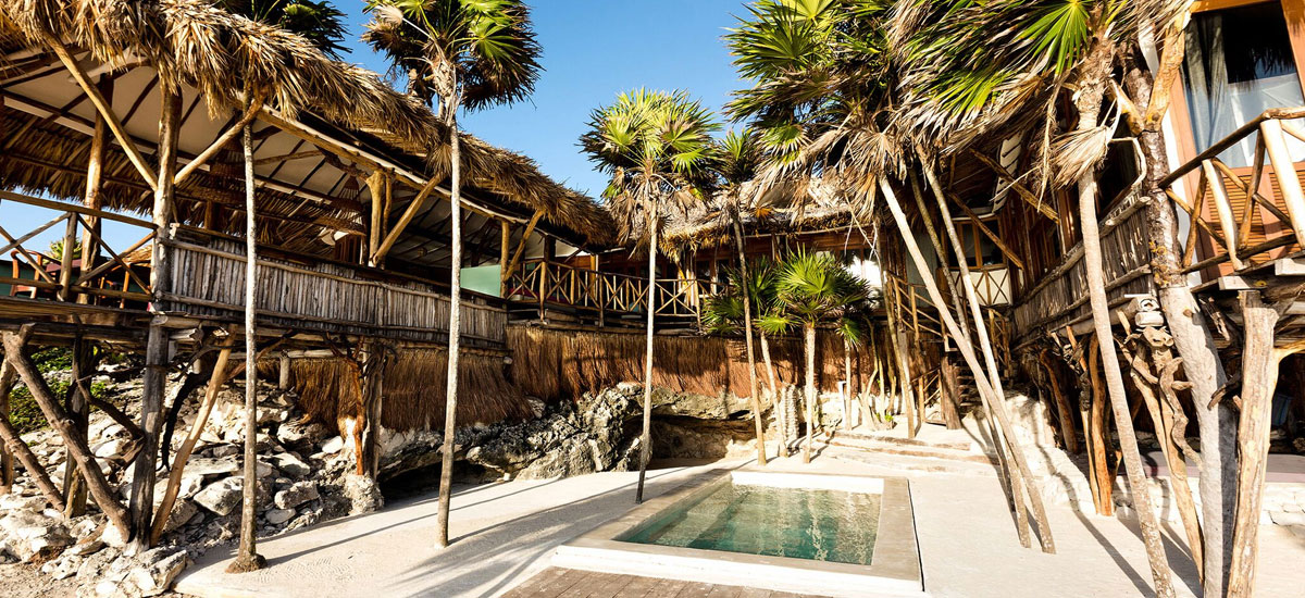 casa madera pool