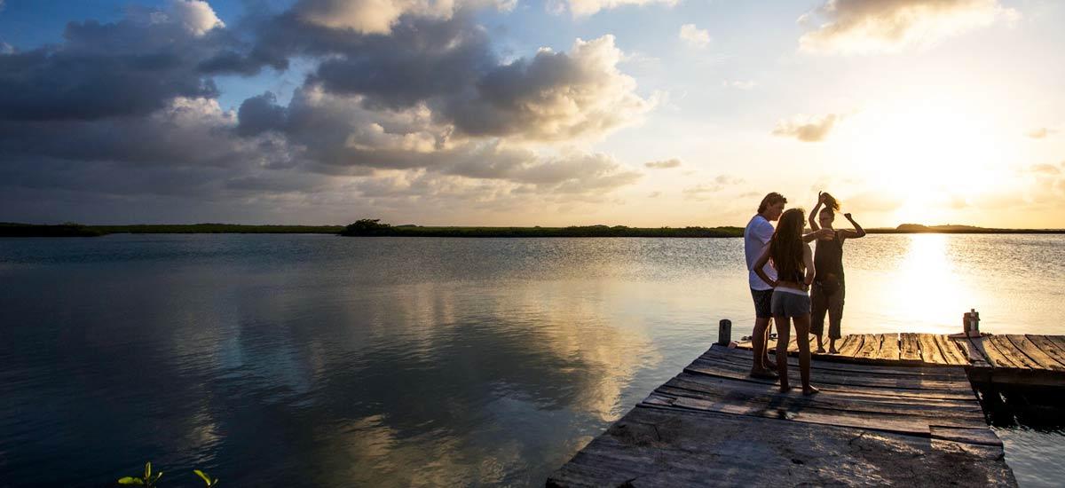 casa maya kaan sunset deck