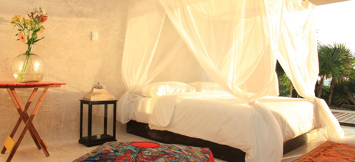 casa palapa bedroom sunlight