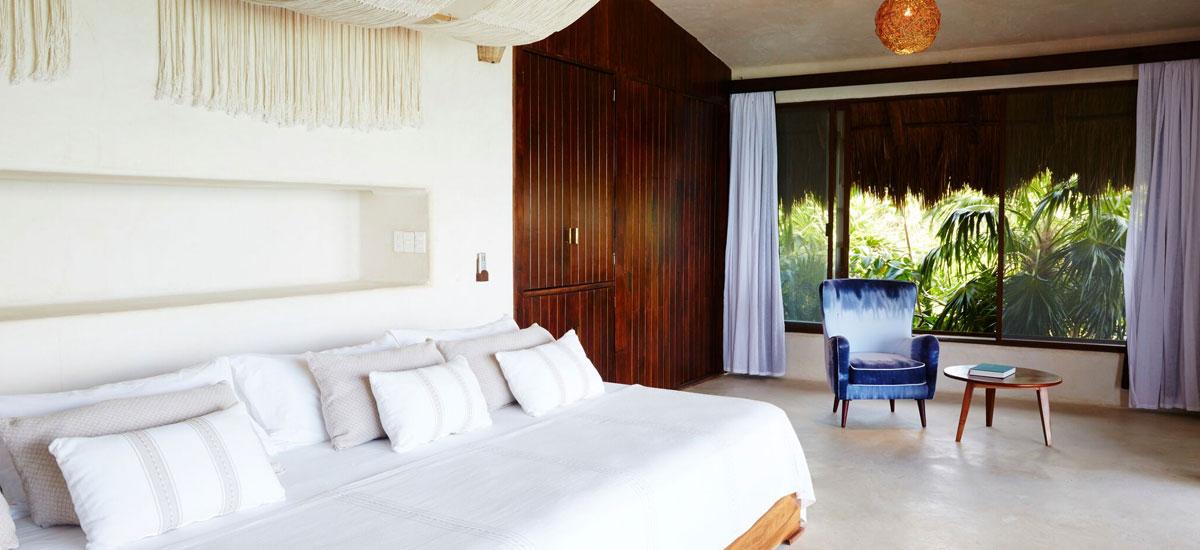 casa palapa bedroom