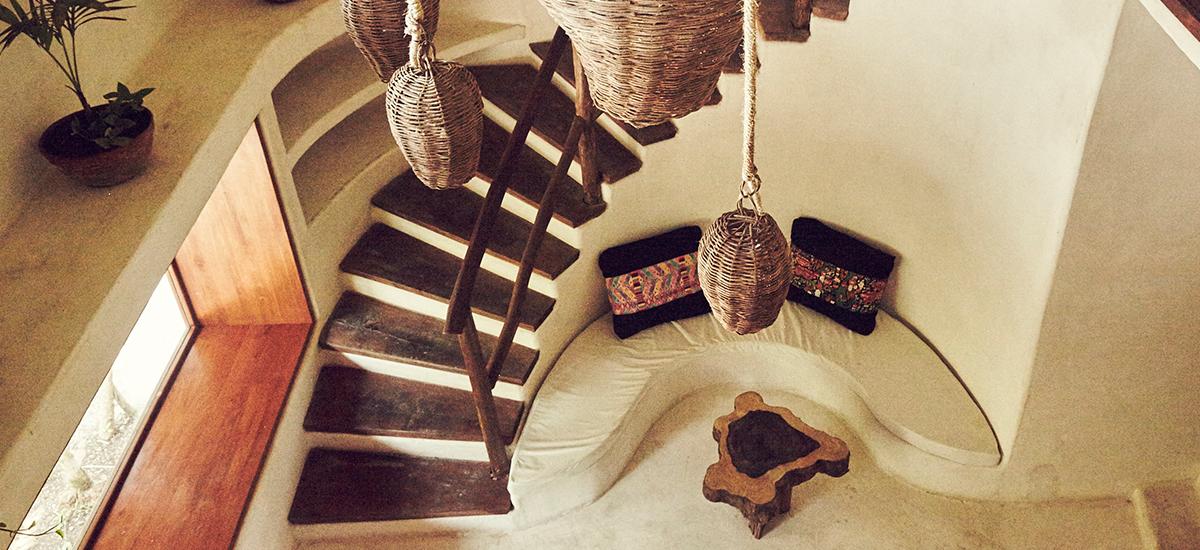 casa palapa stairs