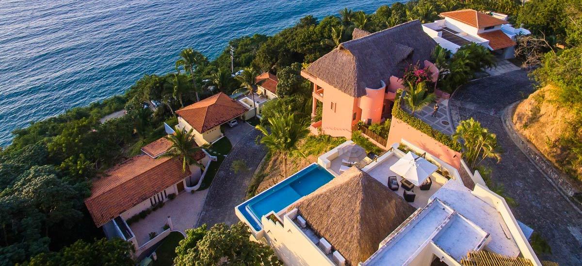 casa suhana aerial view