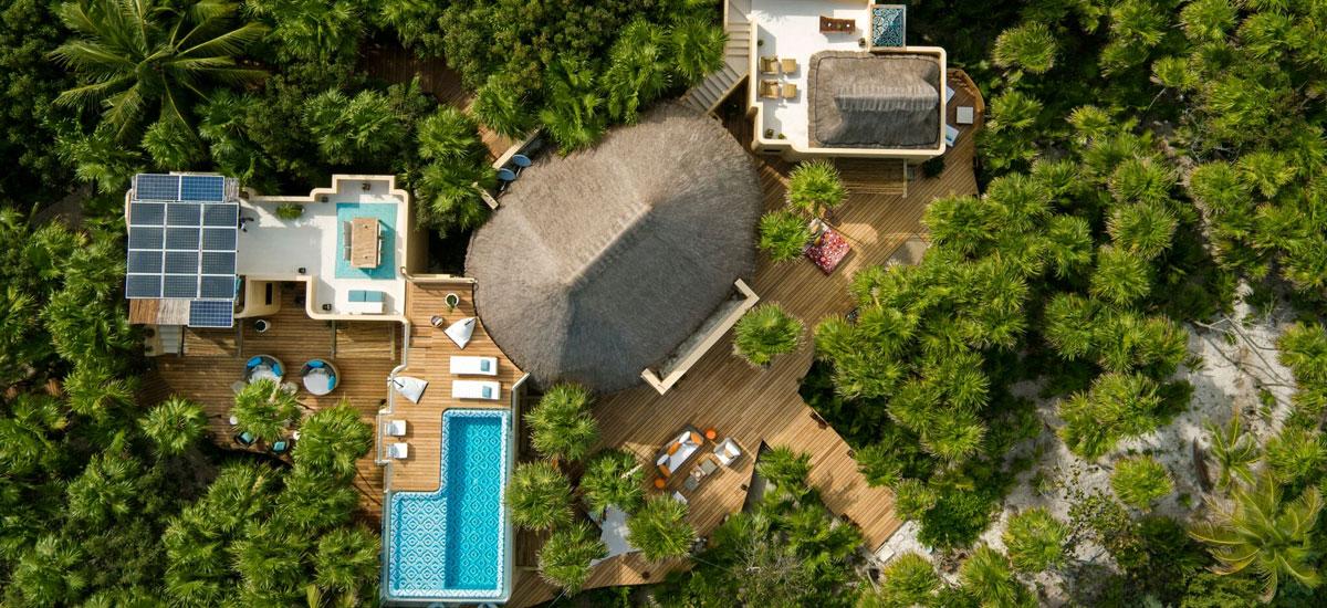 casa yakunah tulum aerial view property