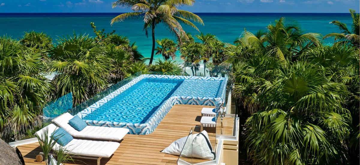 casa yakunah tulum pool terrace