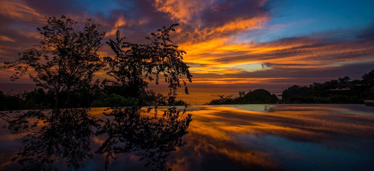 villa constellation aries sunset