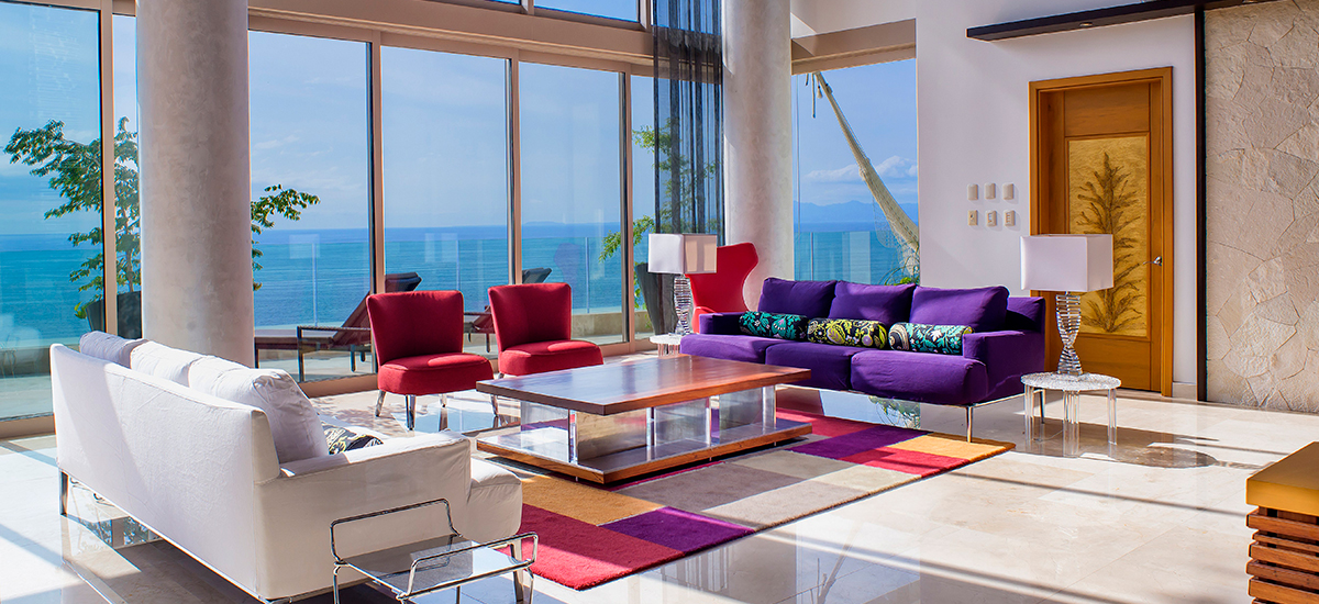 grand penthouse at garza blanca living room