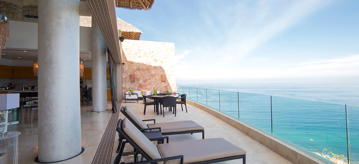 grand penthouse at garza blanca terrace view