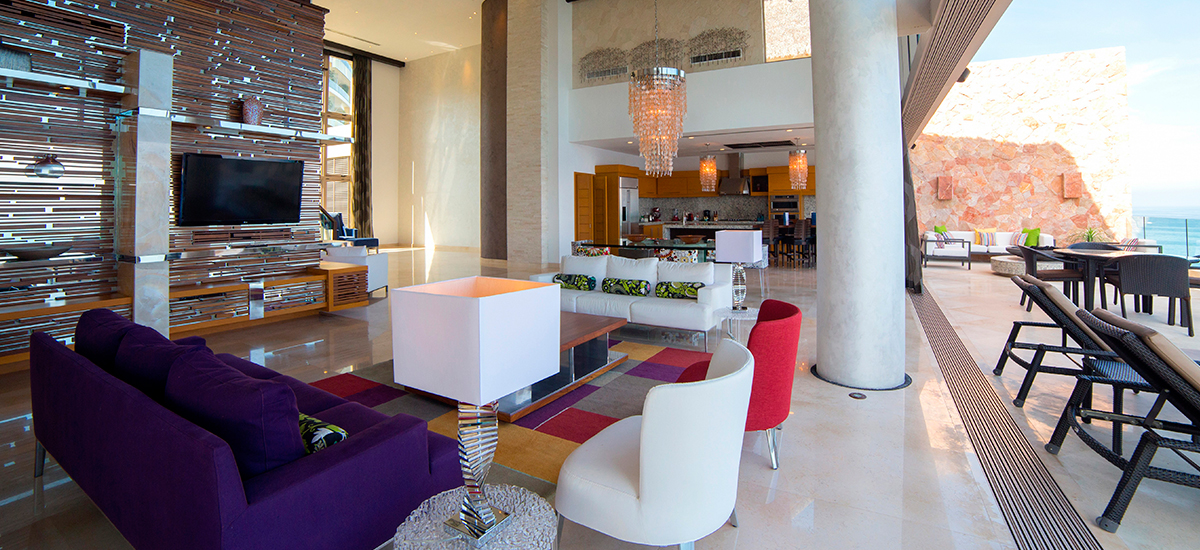 grand penthouse at garza blanca tv room