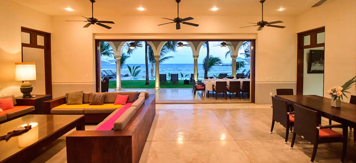 hacienda del mar living room
