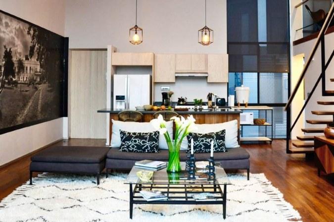 The living area of Laredo Summit Penthouse