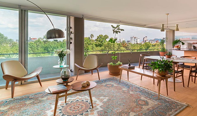 The stylish living space Condesa Parque Mexico