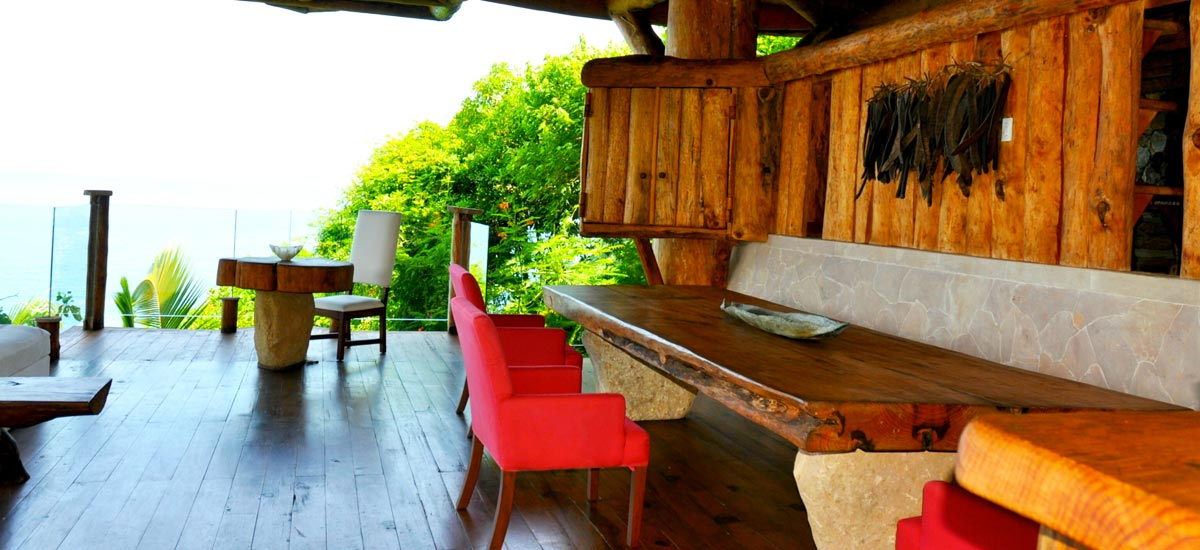tree house outdoor table