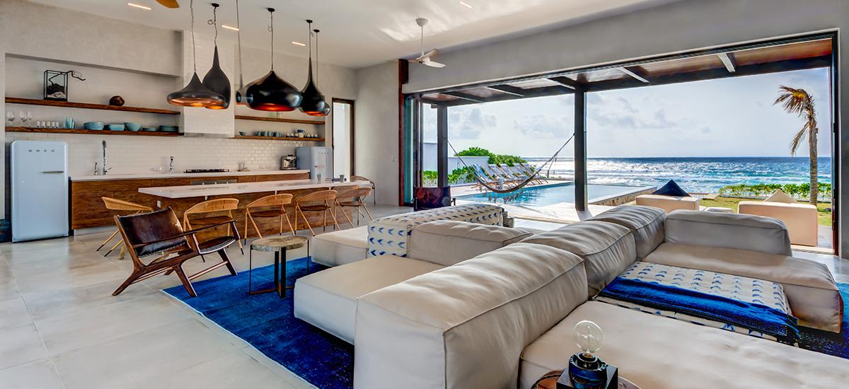 villa amara living ocean view