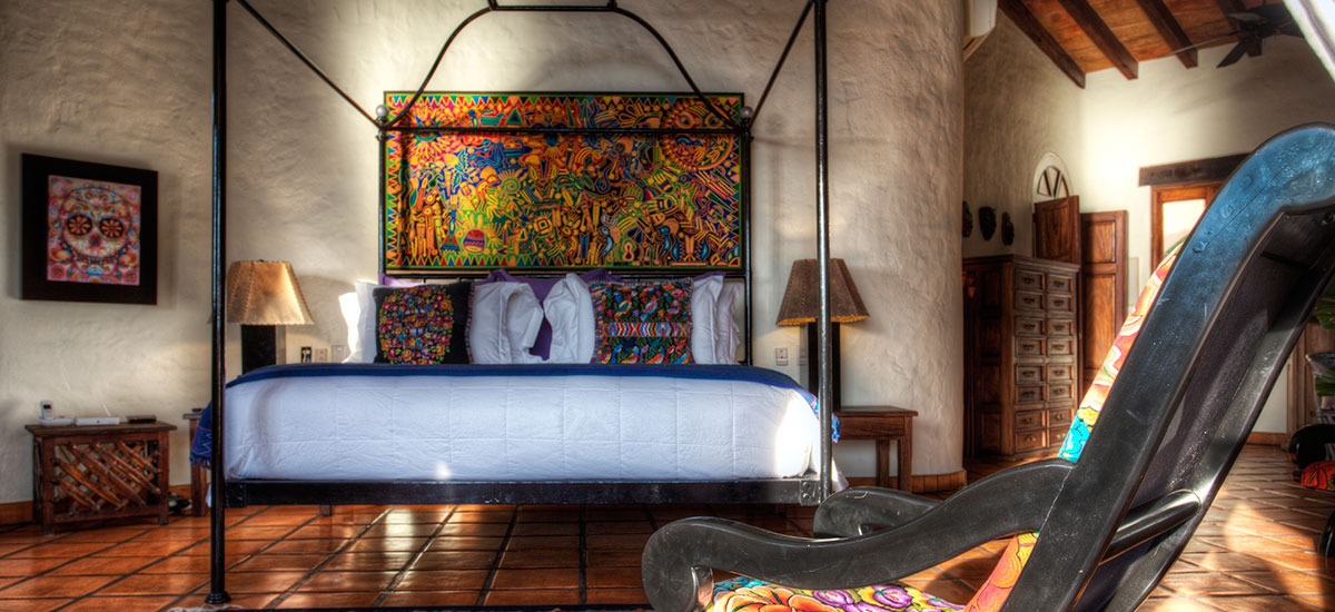 villa azul celeste bedroom