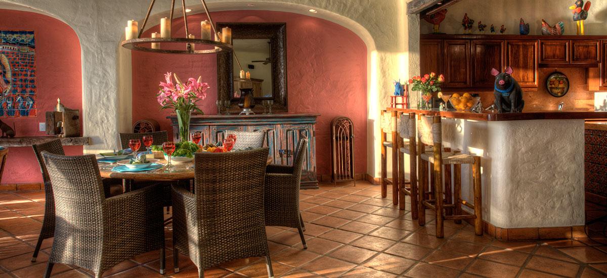 villa azul celeste dinner and kitchen 2