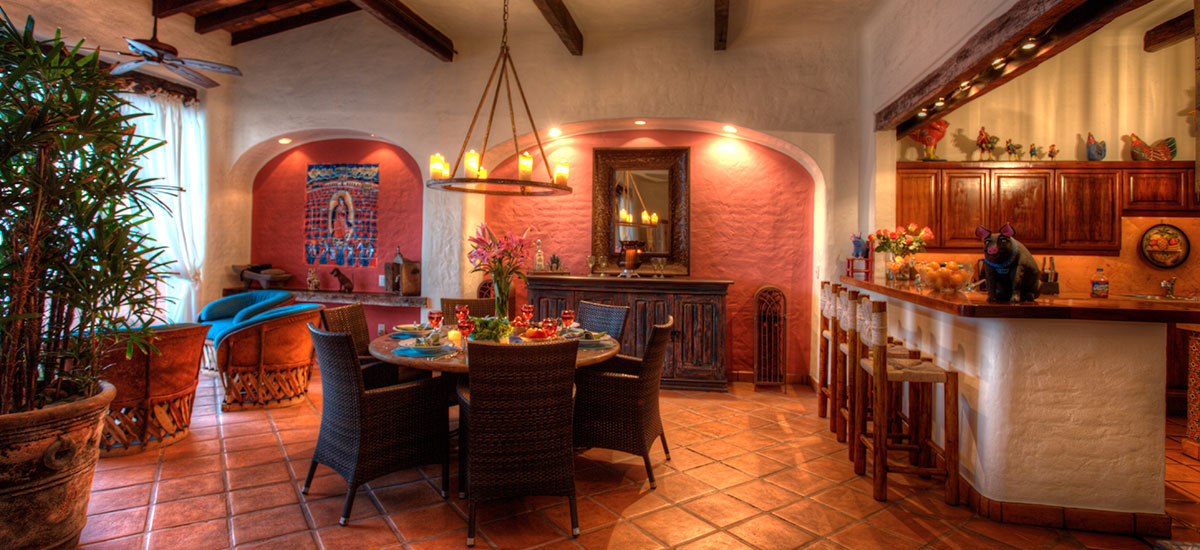 villa azul celeste dinner and ktichen