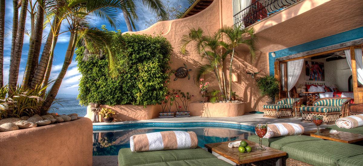 villa azul celeste pool lounge
