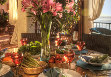 Villa Azul Celeste Food