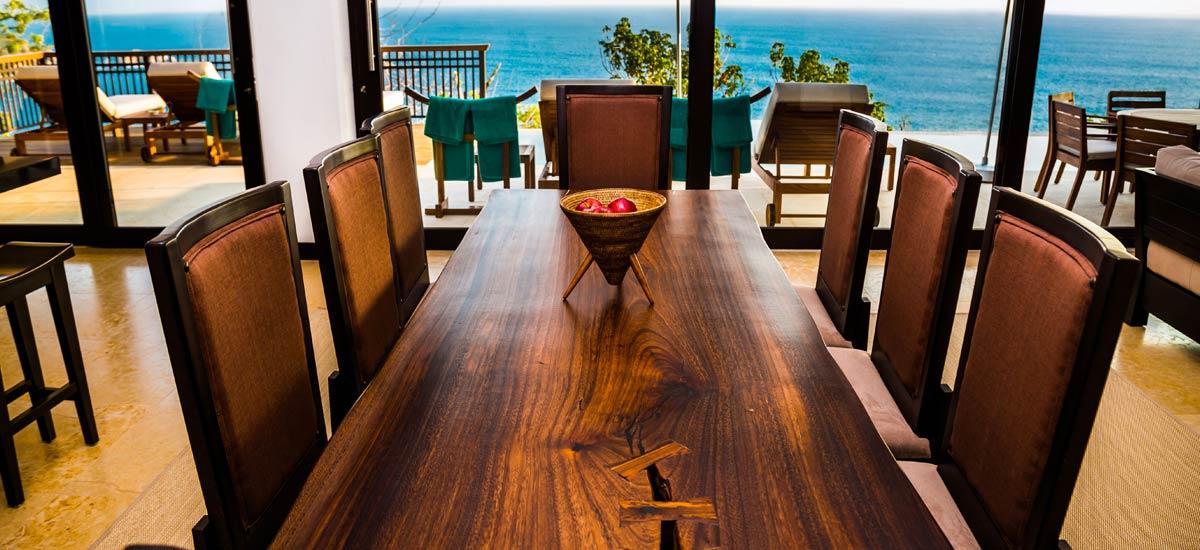 villa ciruelo dining room