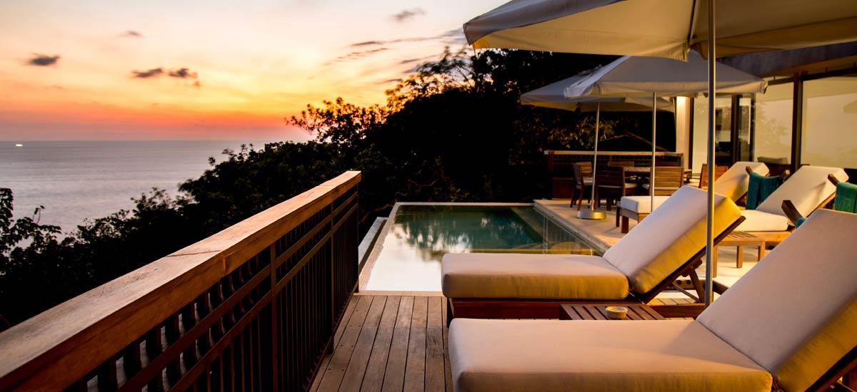 villa ciruelo sunset pool