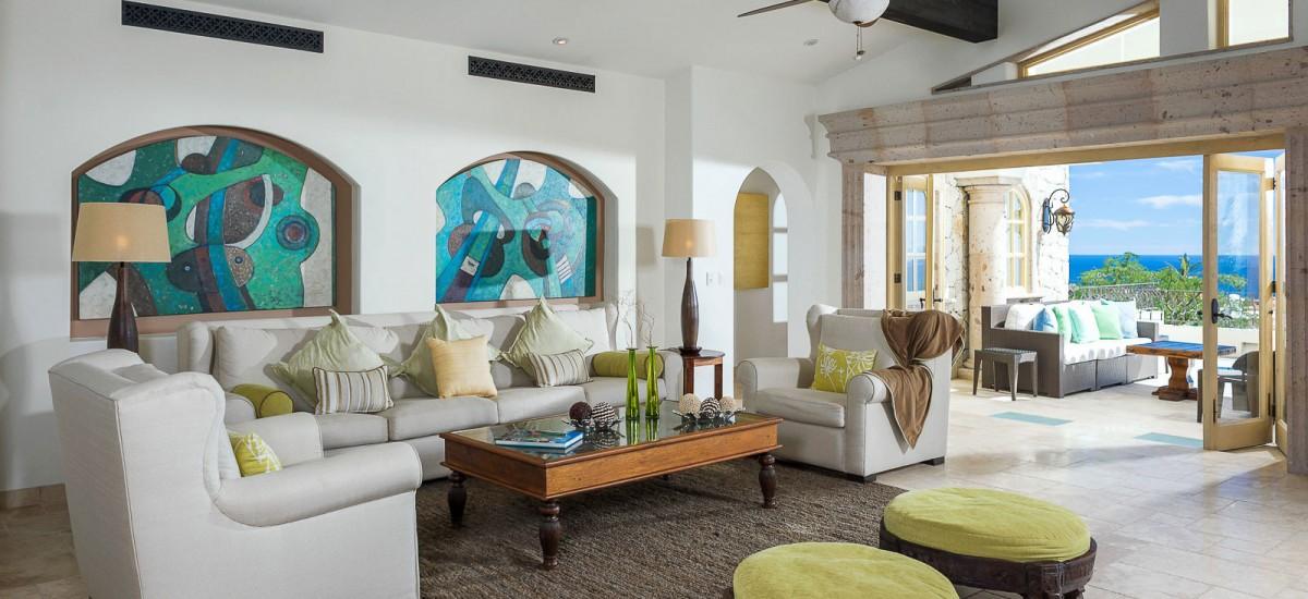 villa de los faros living room 3