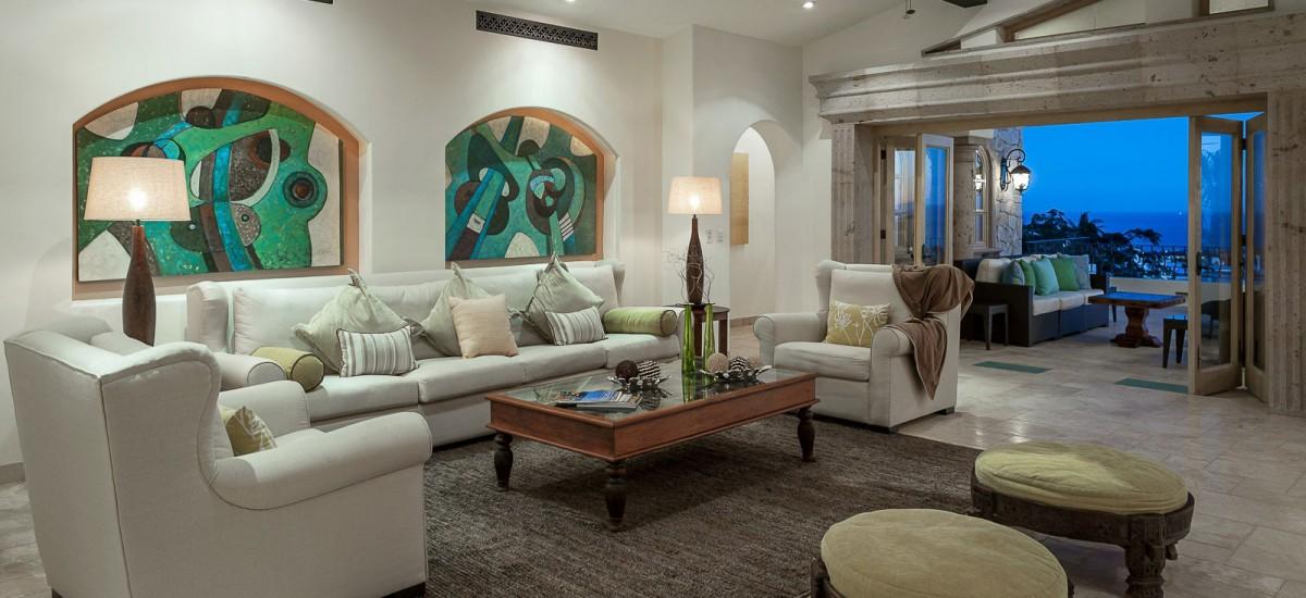 villa de los faros living room
