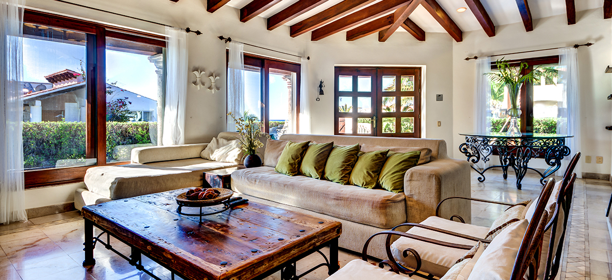 villa del mar living room