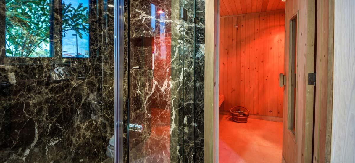 villa el patron shower sauna