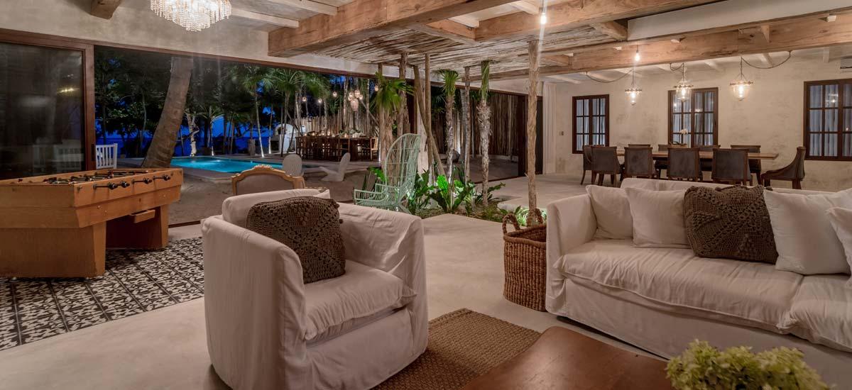 villa la semilla living room