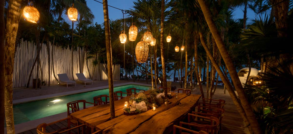 villa la semilla night dining