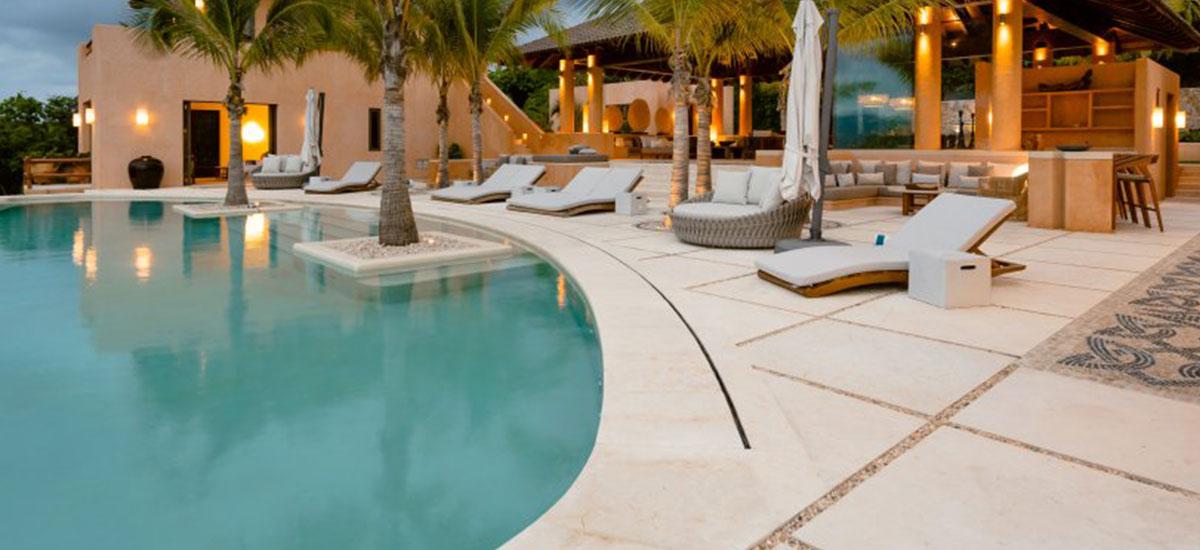 Villa Las Palmas 36 Pool Sunset