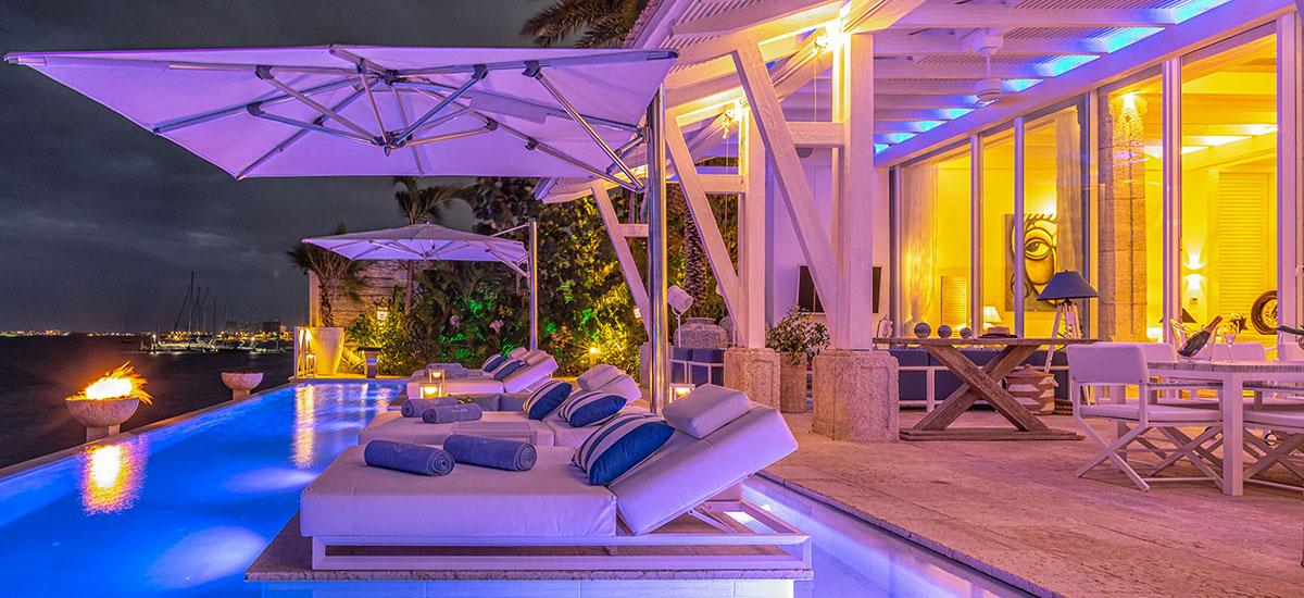Villa Sha Pool Night