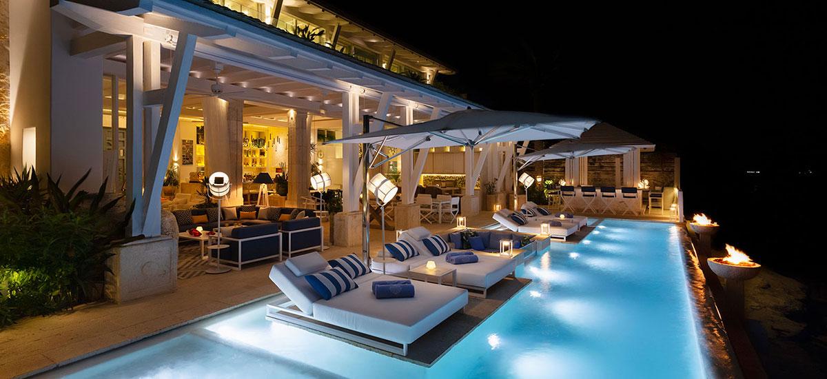 Villa Sha Outside Night