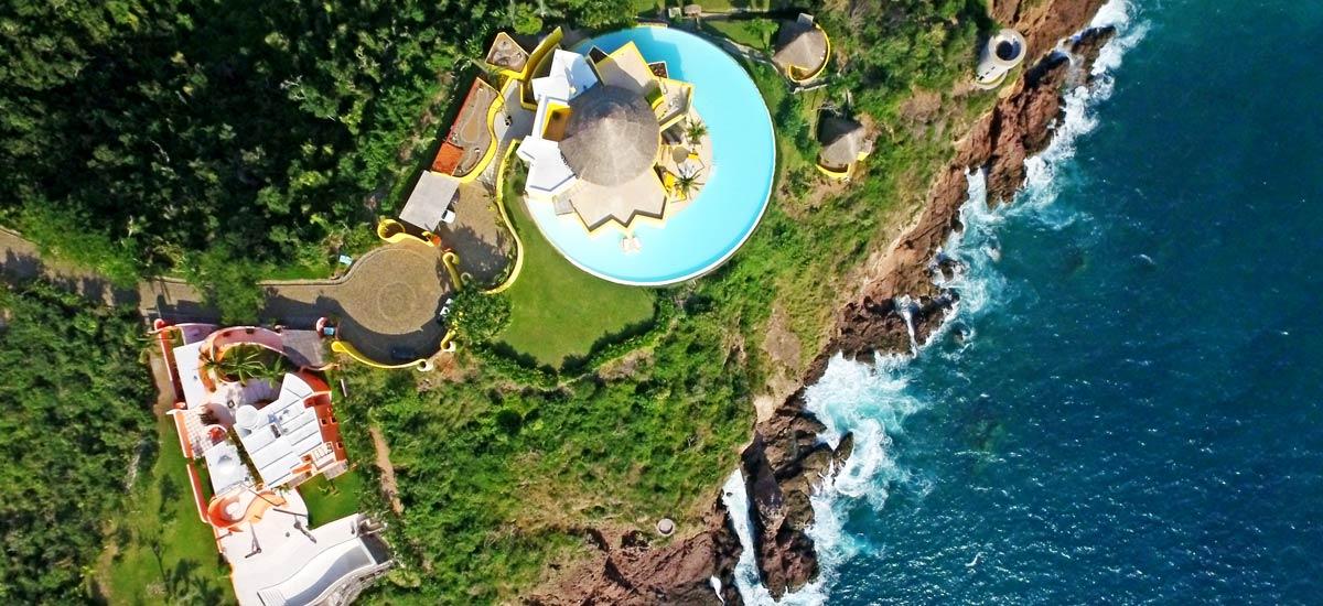 villa sol de oriente aerial view