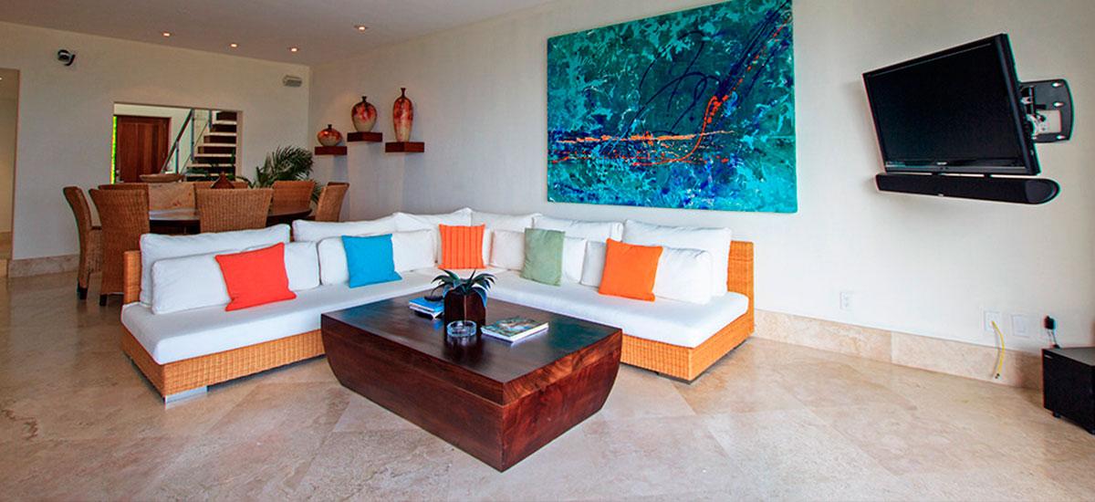 villa topacio living room