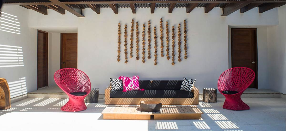 villa tres amores outdoor living area