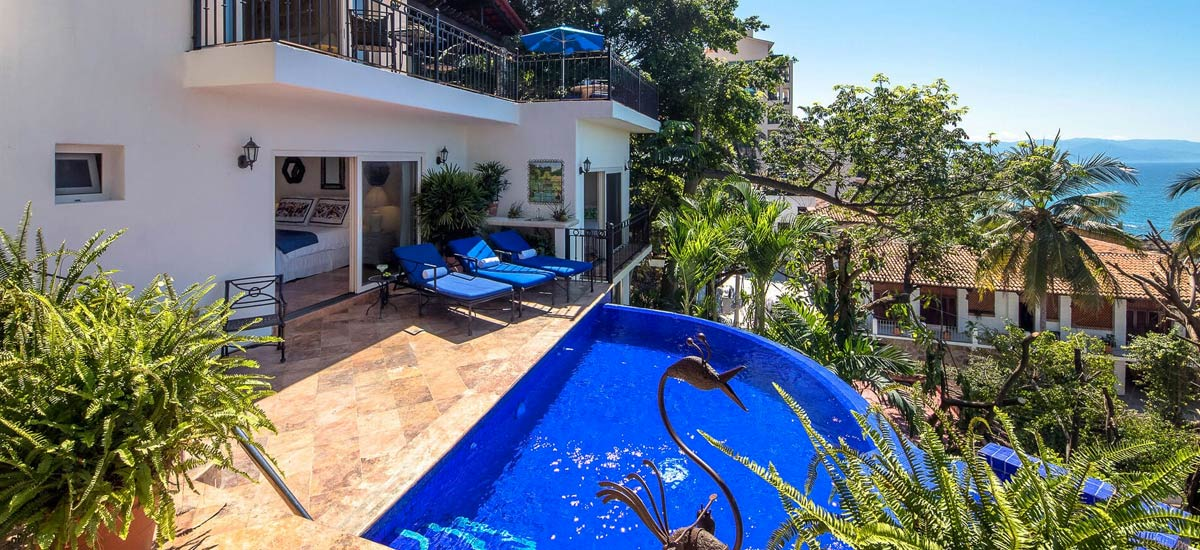 villa vista de aves pool