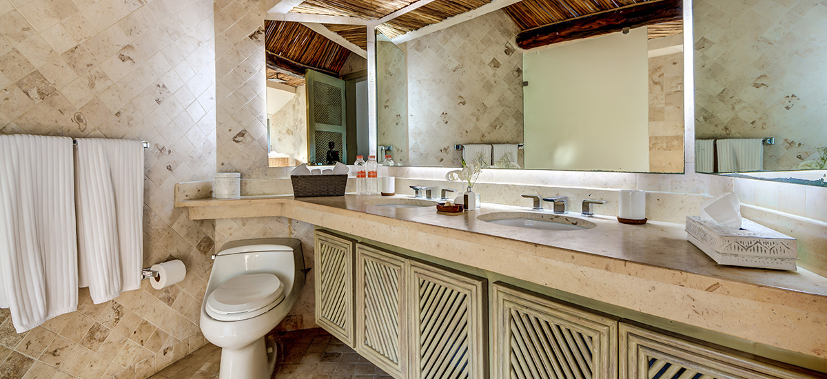 villa zacil na riviera maya bathroom 2