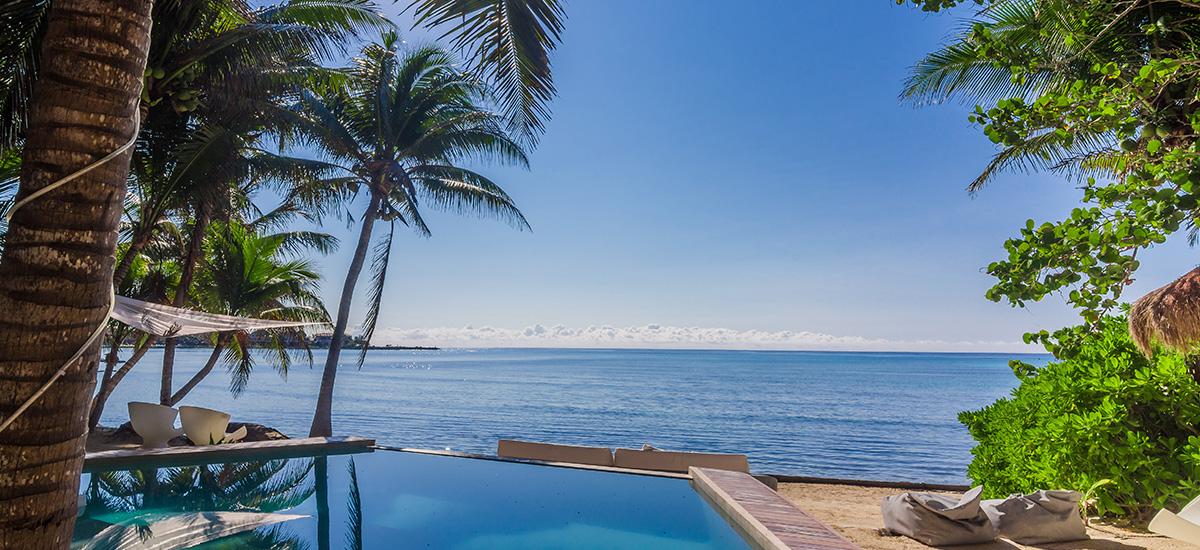 villa zacil na riviera maya beach pool 2