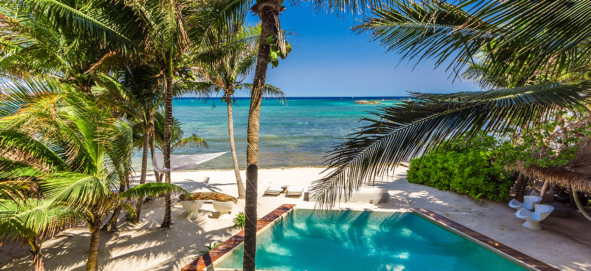 villa zacil na riviera maya beach pool